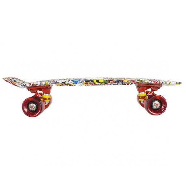 Skateboard  Art Multicolor Nils Extreme