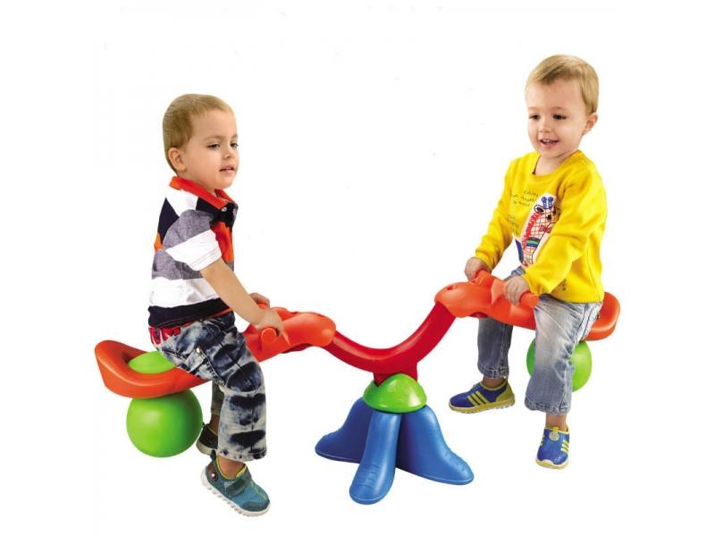 Balansoar de interior sau exterior din plastic cu doua locuri pentru copii