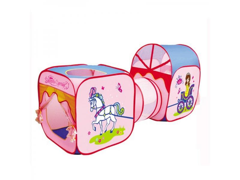 Cort de joaca pentru copii 3 in 1 AliBibi, forma de caleasca de printese