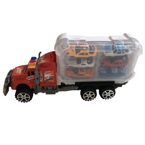 Set camion cu 6 masinute incluse AliBibi